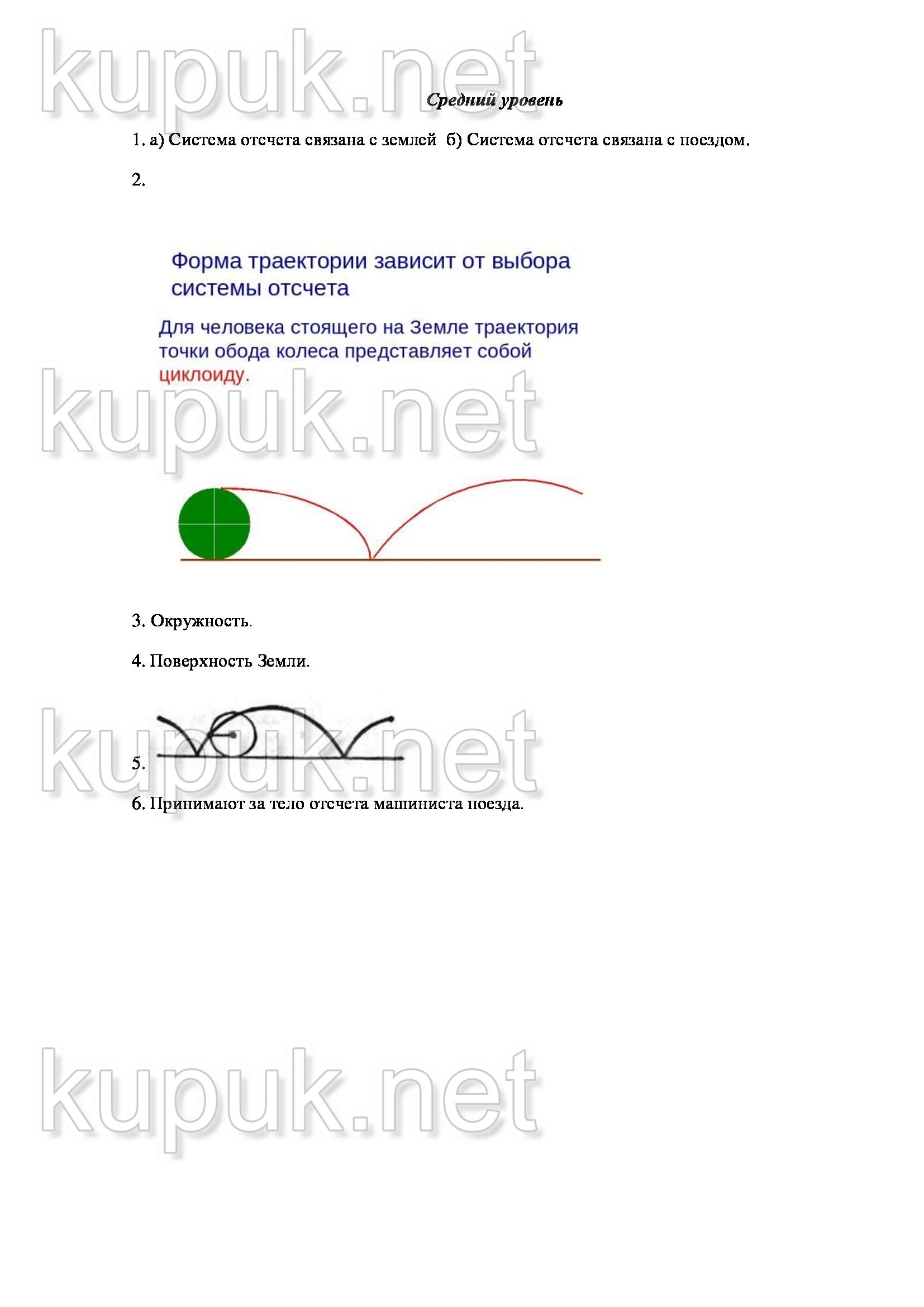 Изобразите схематически траекторию движения точек 273
