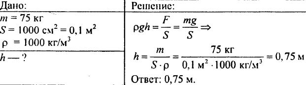 Давление в жидкости и газе. Расчет давления жидкости на дно и стенки сосуда