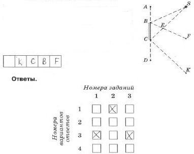Тренировочный тест №8 «Законы распространения света. Линзы»