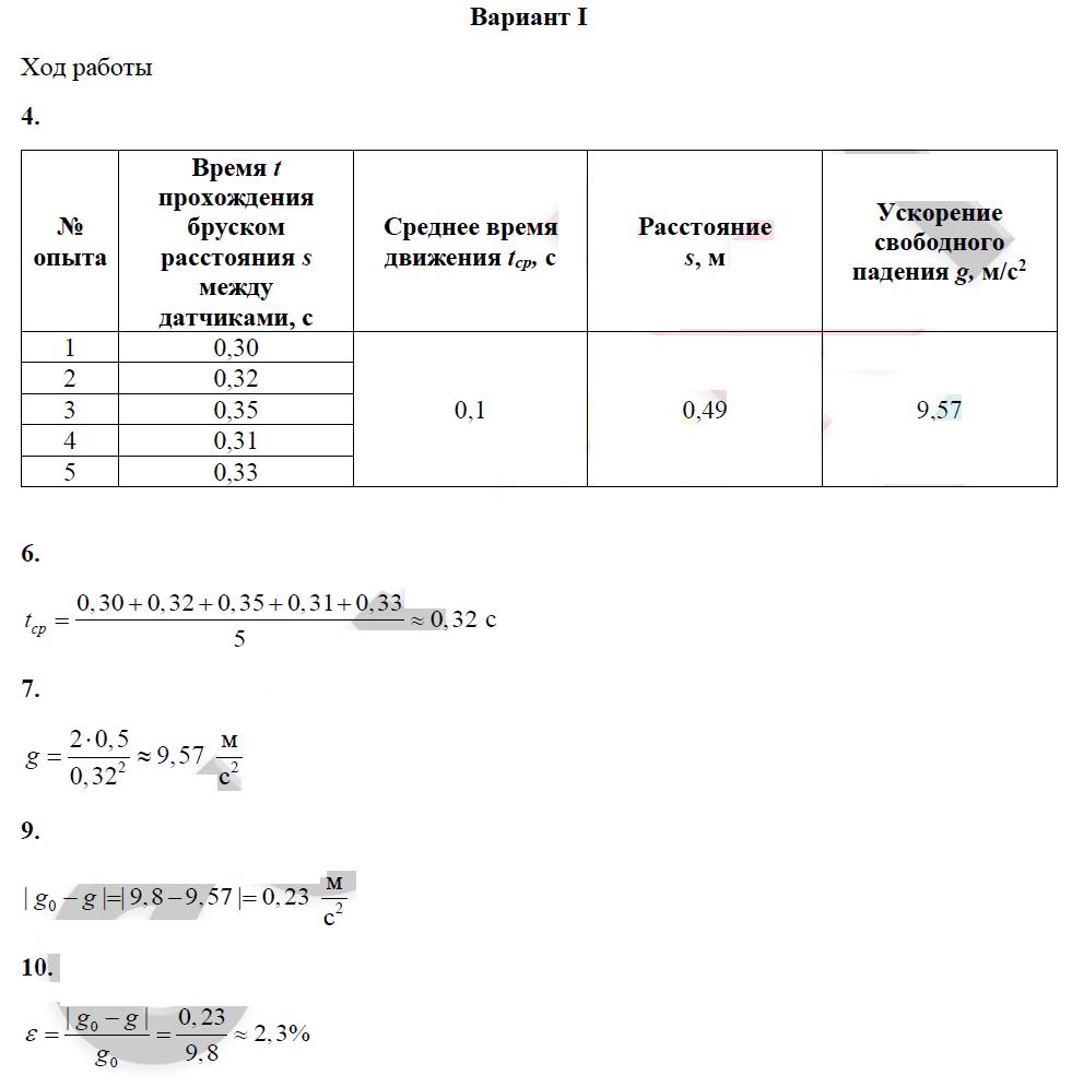 ЛР-2. Измерение ускорения свободного падения