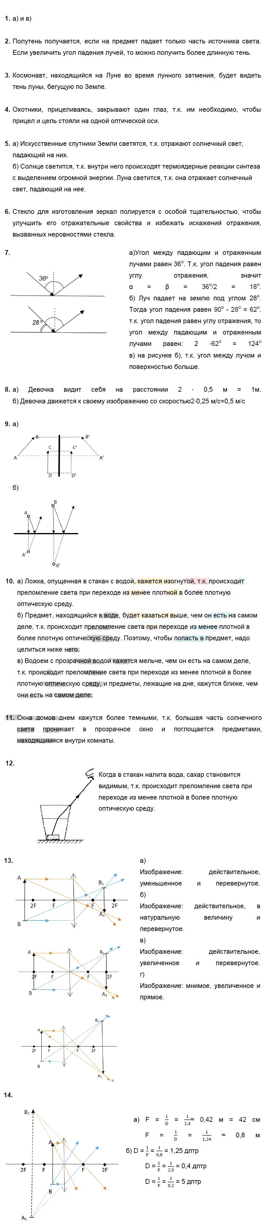 ТЗ-14. Оптические явления